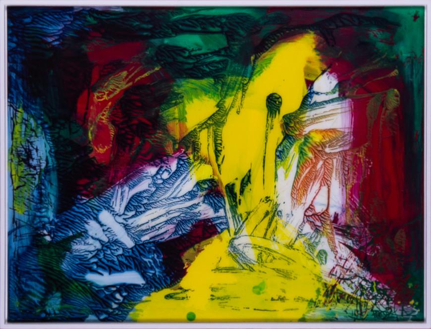 Vorschaubild des Kunstwerks 'abstrakt 3034/3' aus dem Verleih der Artothek Hallstadt.