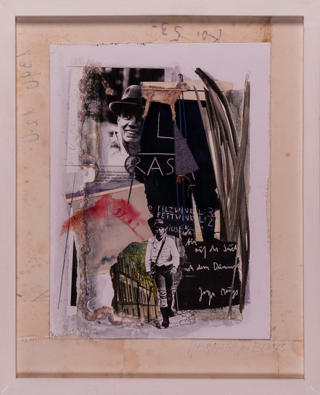 Vorschaubild des Kunstwerks 'Kulturkomplex II, Hommage an Joseph Beuys' aus dem Verleih der Artothek Hallstadt.
