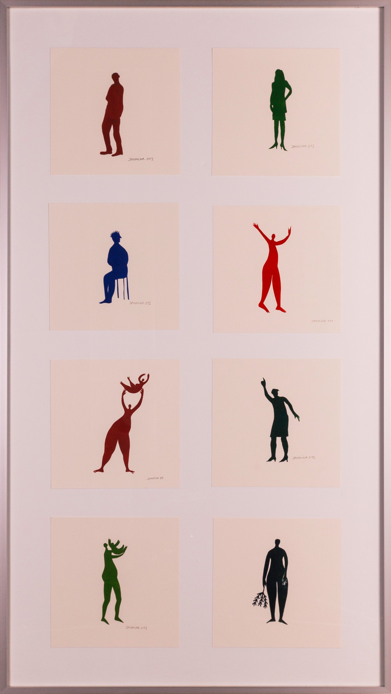Vorschaubild des Kunstwerks 'Menschen' aus dem Verleih der Artothek Hallstadt.