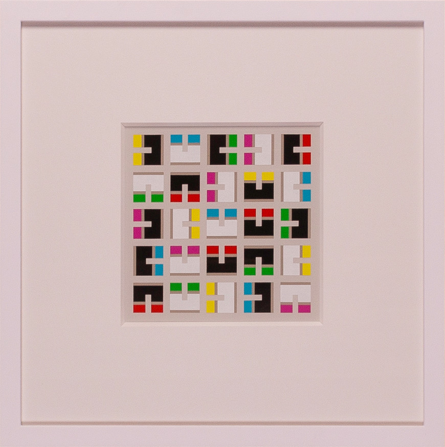 Vorschaubild des Kunstwerks 'Quadrate und Rechtecke III' aus dem Verleih der Artothek Hallstadt.