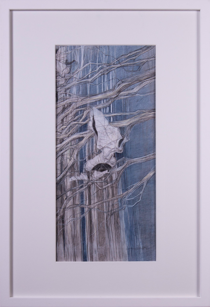 Vorschaubild des Kunstwerks 'Lose Blätter III' aus dem Verleih der Artothek Hallstadt.