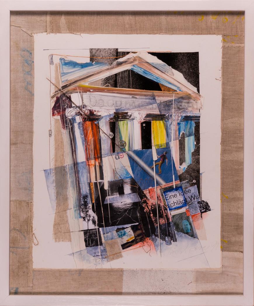Vorschaubild des Kunstwerks 'Kulturkomplex III, Hommage an Joseph Beuys' aus dem Verleih der Artothek Hallstadt.