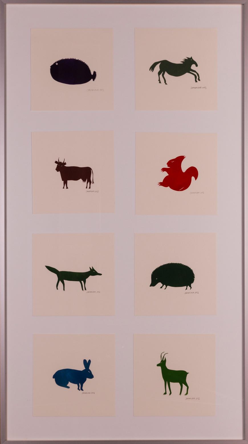 Vorschaubild des Kunstwerks 'Tiere' aus dem Verleih der Artothek Hallstadt.